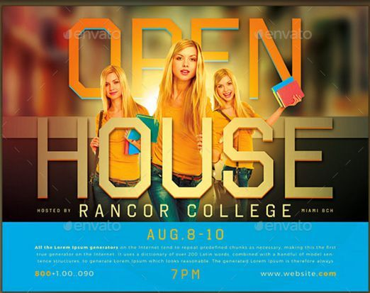 Open House Flyer Sample Open House Flyer Ideas Pinterest - open house templates