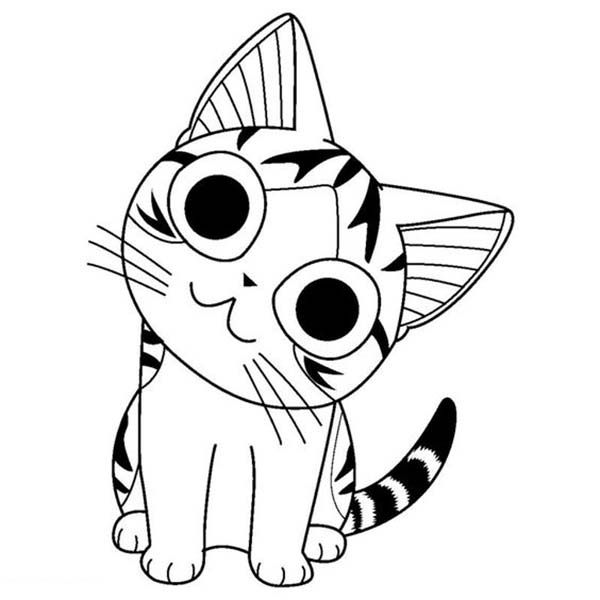 Coloriages chi une vie de chat pour occuper les enfants le mercredi et les jours de vacances - Coloriage gratuit chat ...