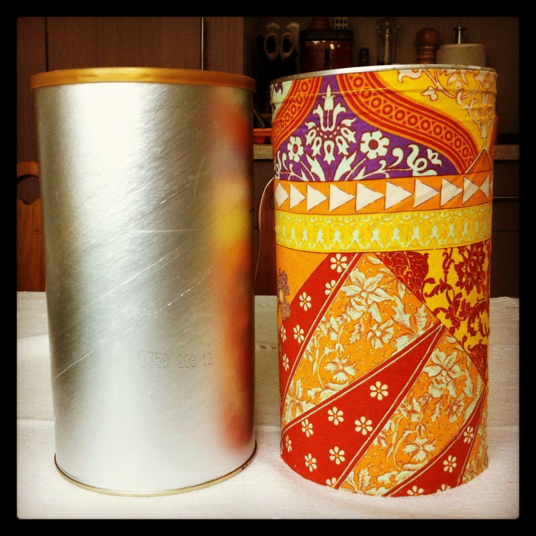 Reciclar latas de leche recortar la tela de tu elecci n - Telas para tapiceria ...