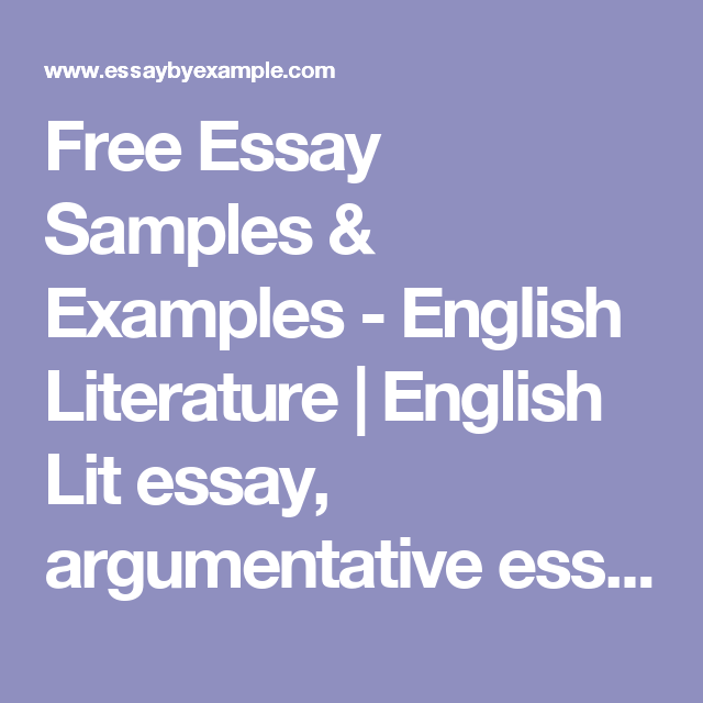 essay samples examples english literature english lit   essay samples examples english literature english lit essay argumentative essay