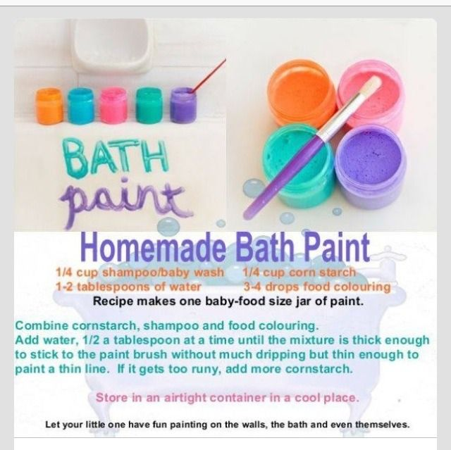 Homemade Bath Paint The Kids Will Love Kid Friendly Paint Craft