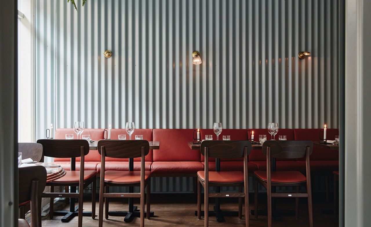 Ox Helsinki Finland Metal Wall Panel Restaurant Interior Design Restaurant Interior