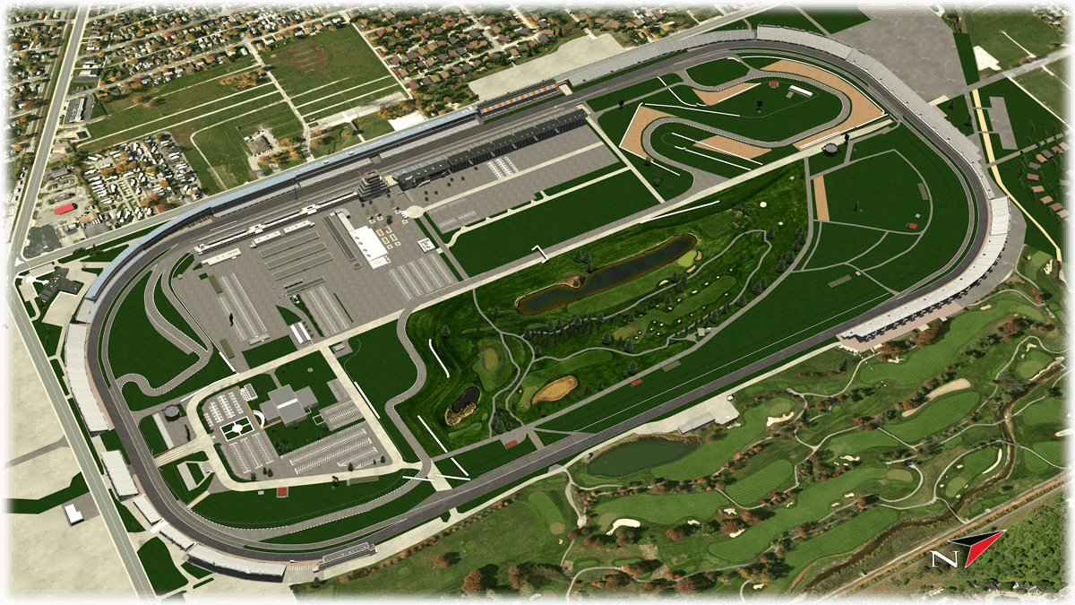 Indianapolis Motor Speedway Considered Relatively Flat By American Standards The Track Is A 2 5 Mile Lon Indianapolis Motor Speedway Speedway Motor Speedway