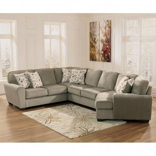 ashley furniture patola park patina 4 piece small sectional with rh pinterest com