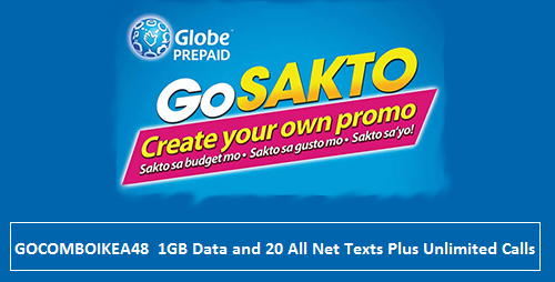 A New 1gb Internet Data For Globe Internet Surfing Promo From The Globe Telecom Commonly Called Gosakto Gocomboikea48 That Only Cost 4 Globe Telecom Data Globe