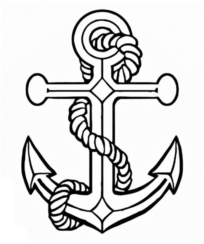 anchor coloring pages anchor drawings for women | Images of a Anchor coloring pages  anchor coloring pages