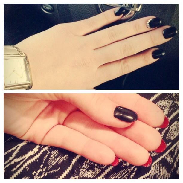 I'm obsessed with my Louboutin inspired nails.