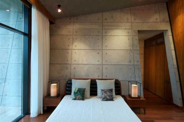 Bedroom Design At Modern Asymmetric Architecture Rishikesh House By Rajiv  Saini Awesome Design