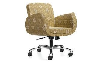"""""""Kate""""  upholstered in a retro fabric."""