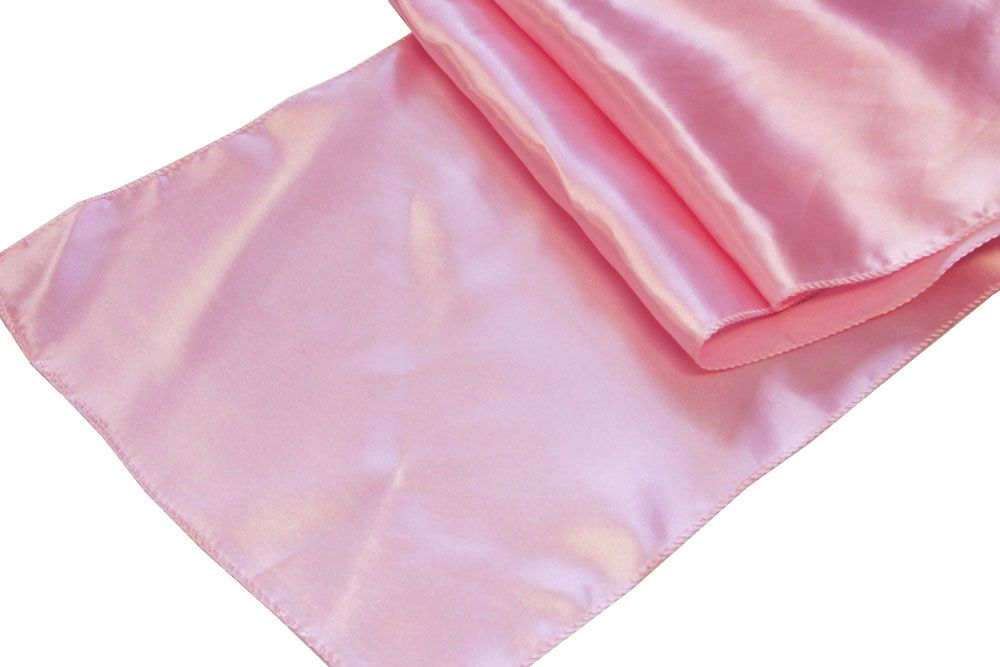 Satin Table Runner Medium Pink Table runners, Pink