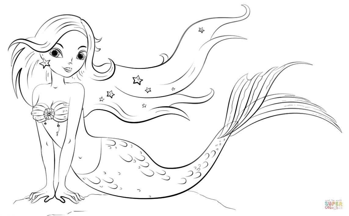Coloring Pages For Girls Mermaids Mermaid Coloring Pages