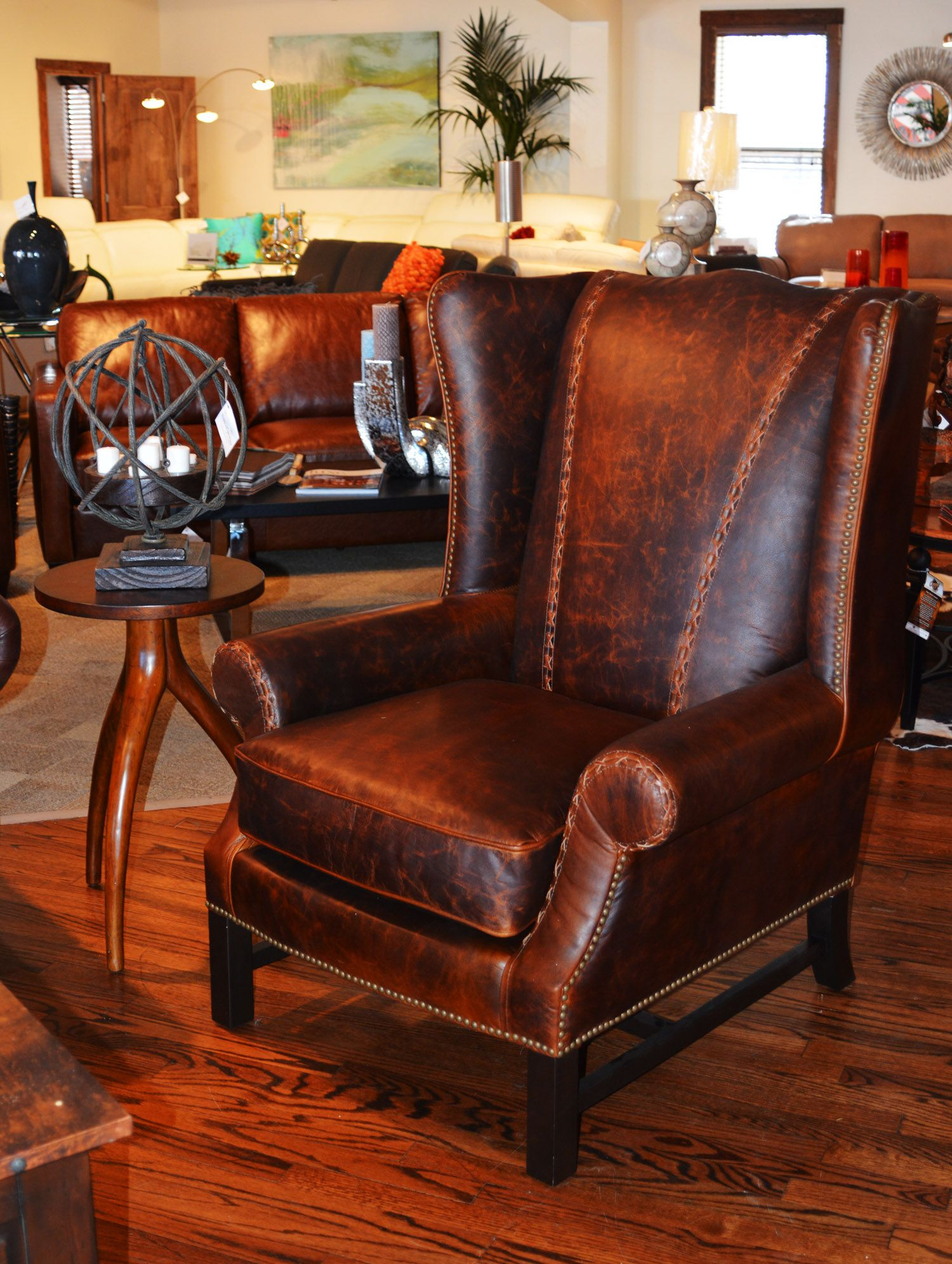 Superieur Stunning Stitching On This Great Leather Club Chair!