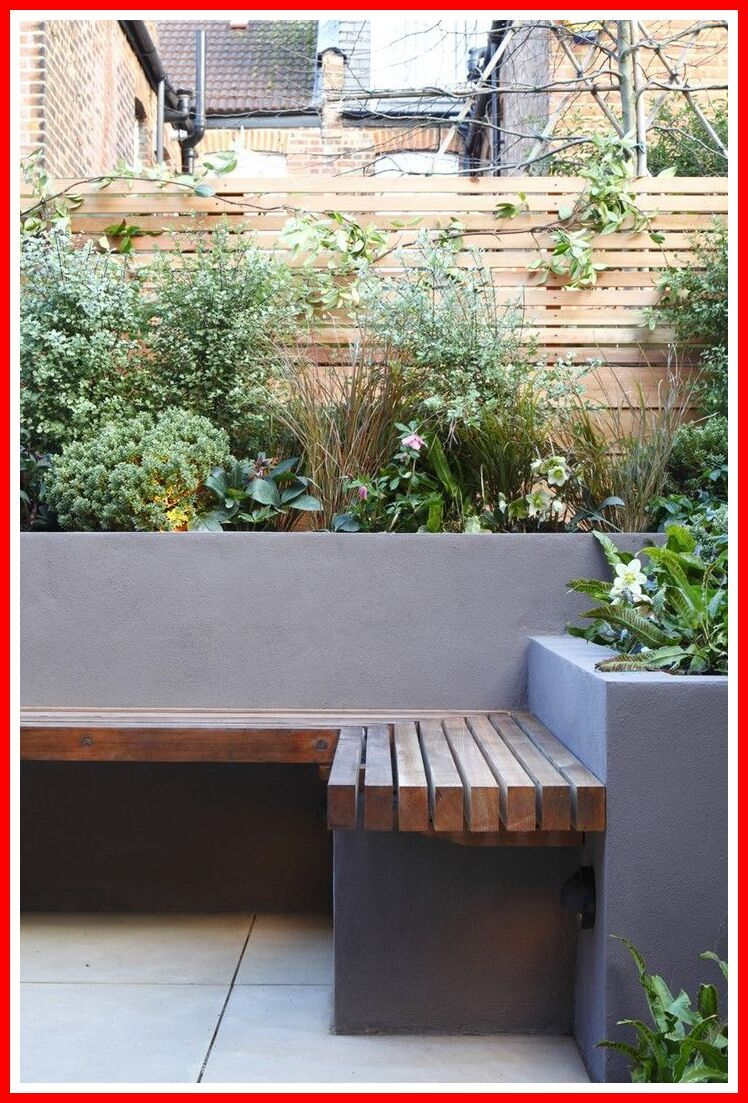 37 Reference Of Wooden Bench Seat Planter In 2020 Built In Garden Seating Garden Seating Garden Seating Area