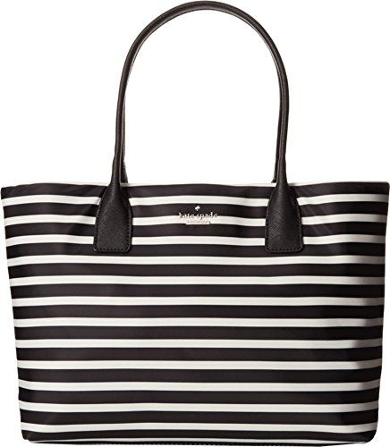 kate spade new york Classic Nylon Catie Shoulder Bag, Black/Clotted Cream, One Size List Price: $158.00 Buy New: $118.50