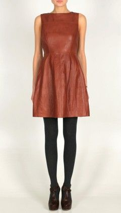 Tibi leather dress...if only I could afford it!