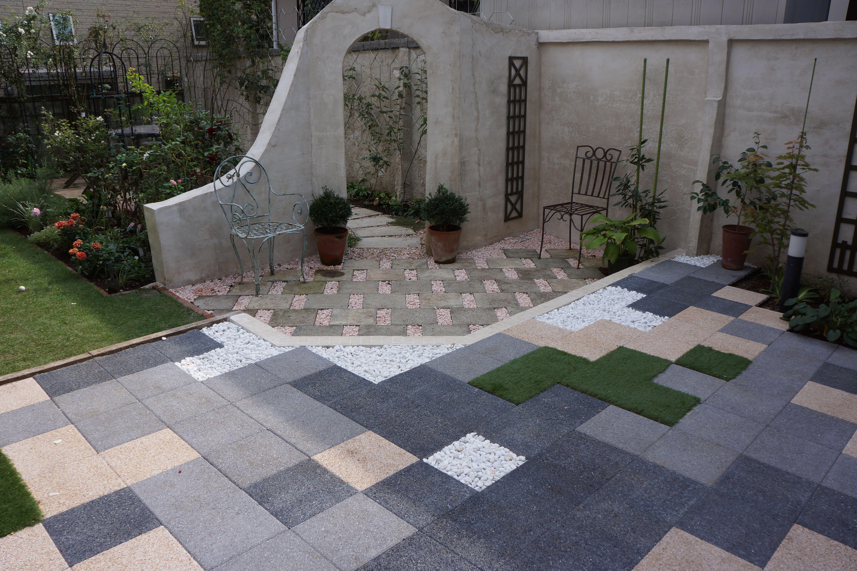 Patio Design My Garden Paving Arch Patio Design Diy Walkway Slabs