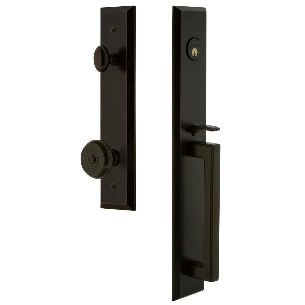 Grandeur Fifth Avenue 2 3 8 In Backset Timeless Bronze 1 Piece Door