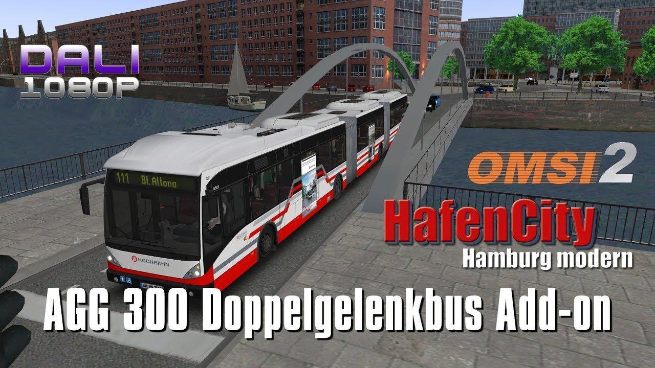 OMSI 2 Add-On Doppelgelenkbus AGG 300 - HafenCity Hamburg modern