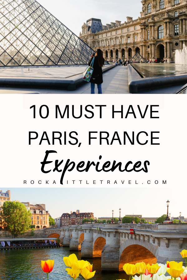 There's something for everybody to enjoy in Paris, so seek out activities you know you'll enjoy.  Here are my own Top 10 Must Have Paris Experiences. #paristravel #parisfrance #francetravel #travelguide