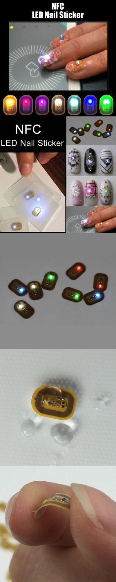 Nails Manicure | NFC Nail Sticker with Flashing LED Lights $2.49 ...