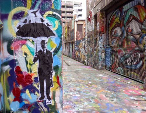 louijover:  perfect day paste up Melbourne alley way