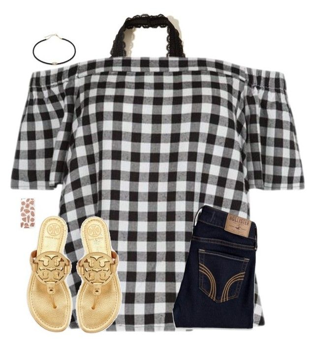 """Yay! More rain. 😐"" by christyaphan ❤ liked on Polyvore featuring Hollister Co., New Look, Jacquie Aiche, Tory Burch and Skinnydip"