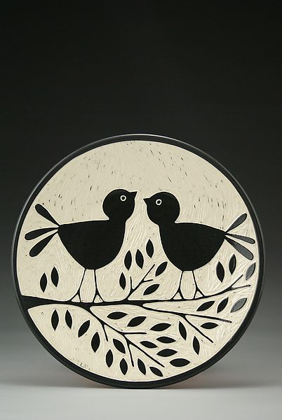 Love Birds by Jennifer  Falter (Ceramic Bowl) #ceramicpottery