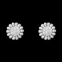 SUNFLOWER øreringe - sterlingsølv med brillantslebne diamanter