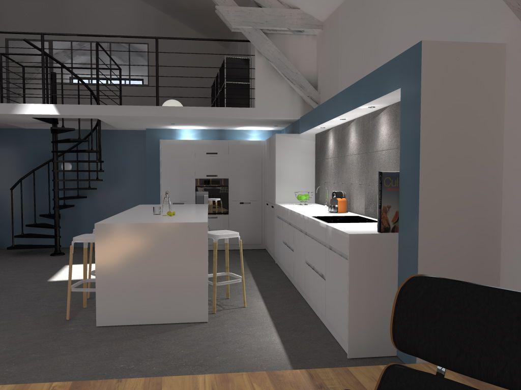 Une arche pour délimiter l'espace cuisine _