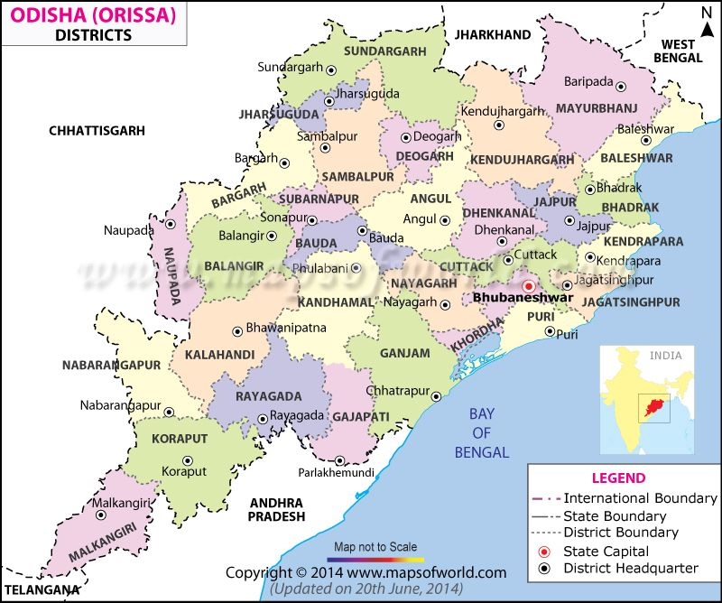 Orissa Map   Things to Wear in 2019   Italy map, Map, India map