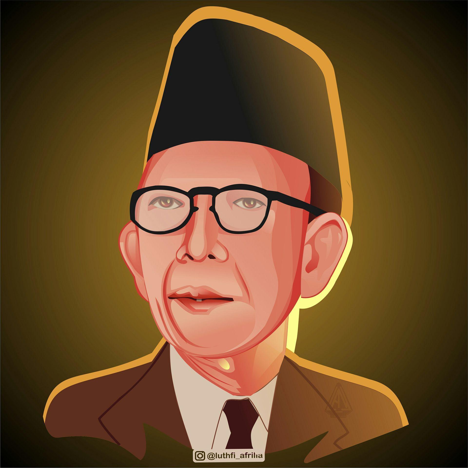Gambar Vektor Pahlawan Indonesia