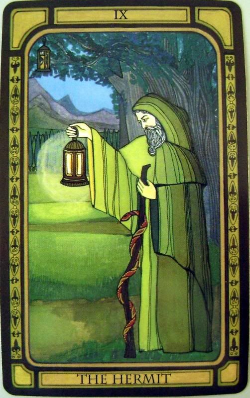 The Hermit - The Golden Tarot, Liz Dean