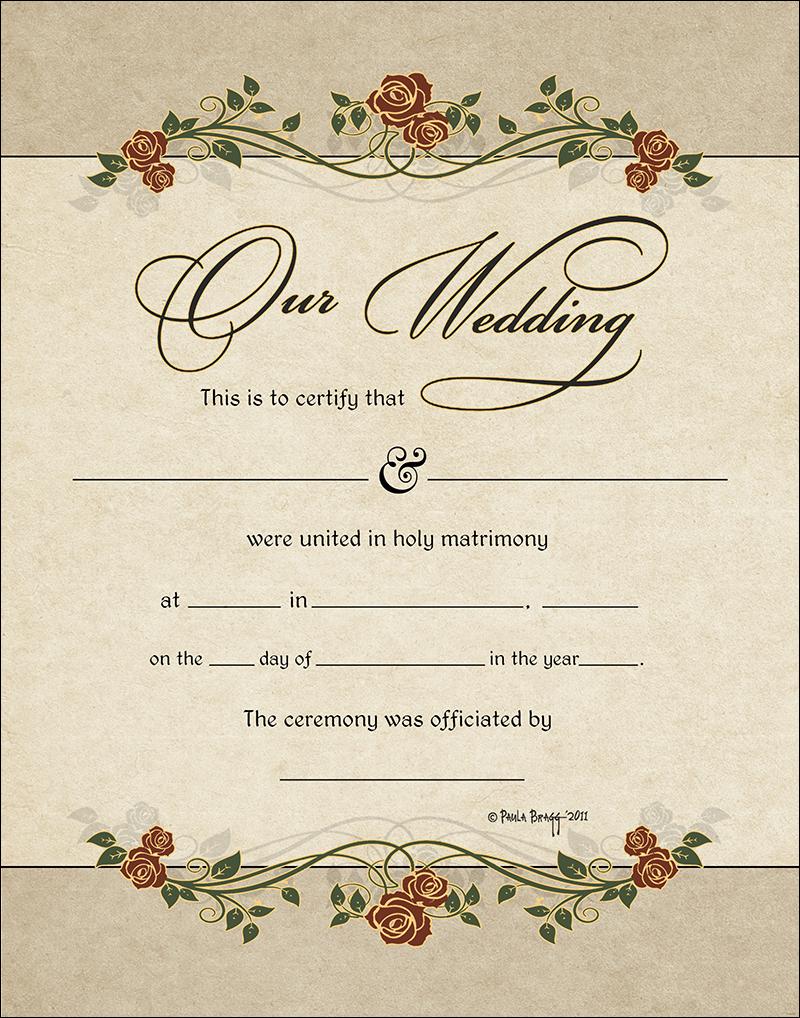 certificate marriage commitment publicrecordsbyname 11x14