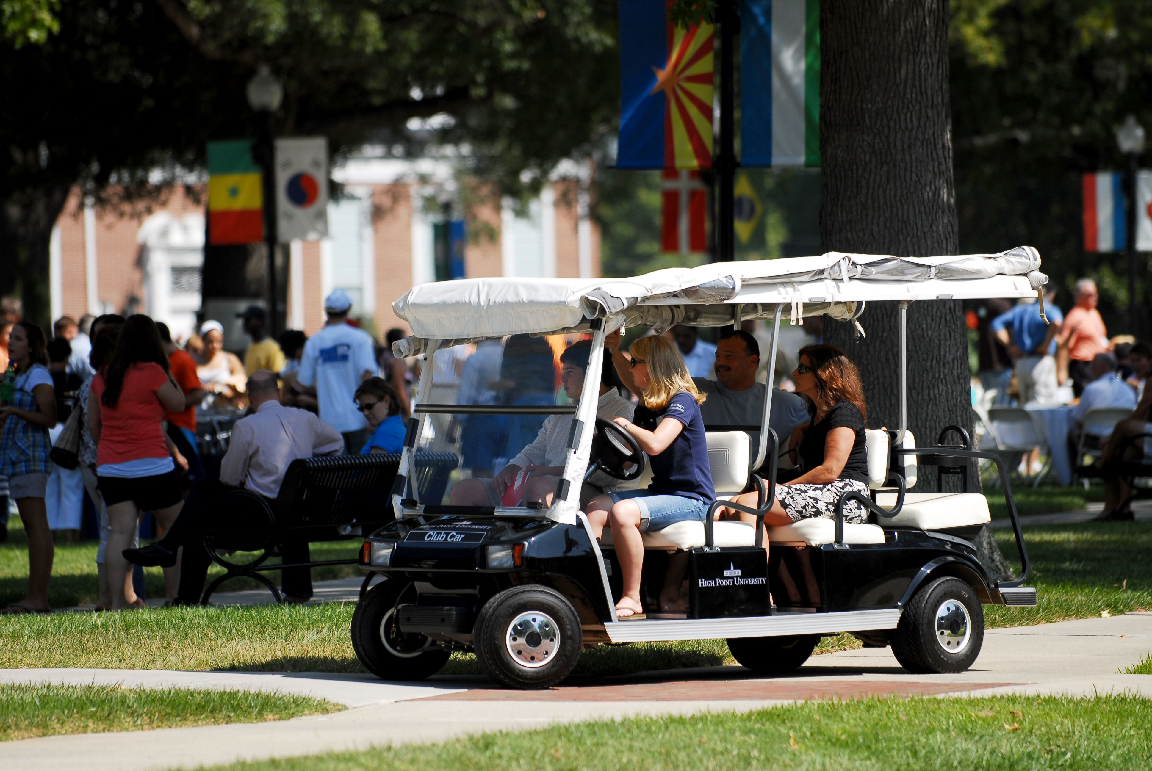 Image result for golf cart college campus
