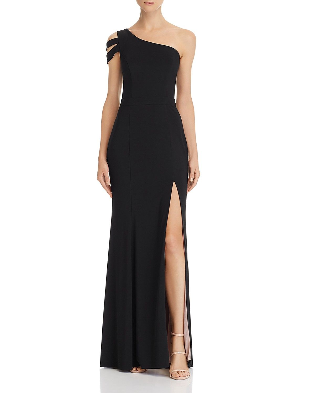Aqua One Shoulder Gown 100 Exclusive Women Bloomingdale S Evening Gowns Formal Black Tie Wedding Guest Dress One Shoulder Gown [ 1500 x 1200 Pixel ]