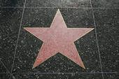Empty star on the walk of Fame, Hollywood, CA