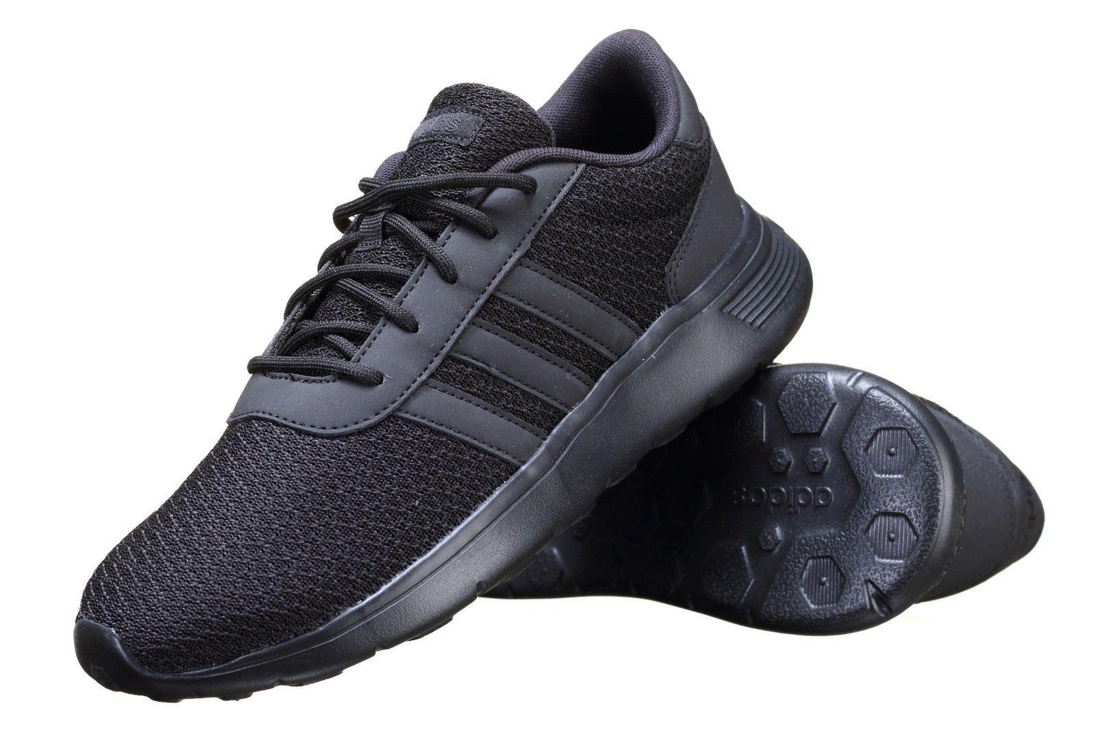 men's adidas neo lite racer trainers in grey