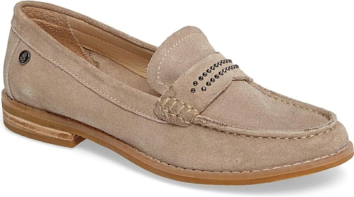 Women S Hush Puppies Aubree Chardon Loafer In Taupe Suede Tiny