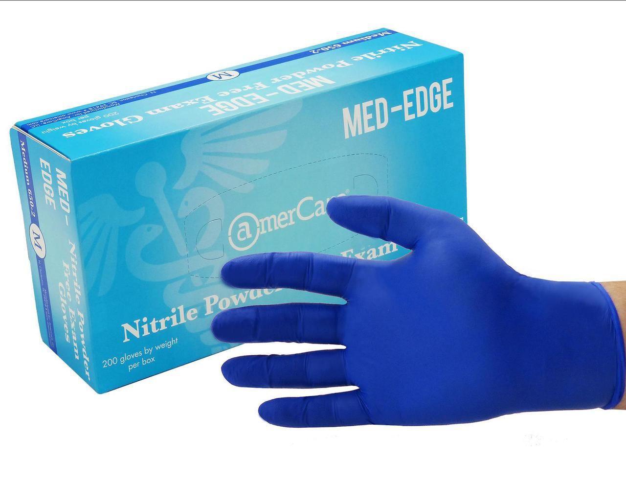 MedEdge Powder Free Nitrile Exam Gloves Gloves, Nitrile