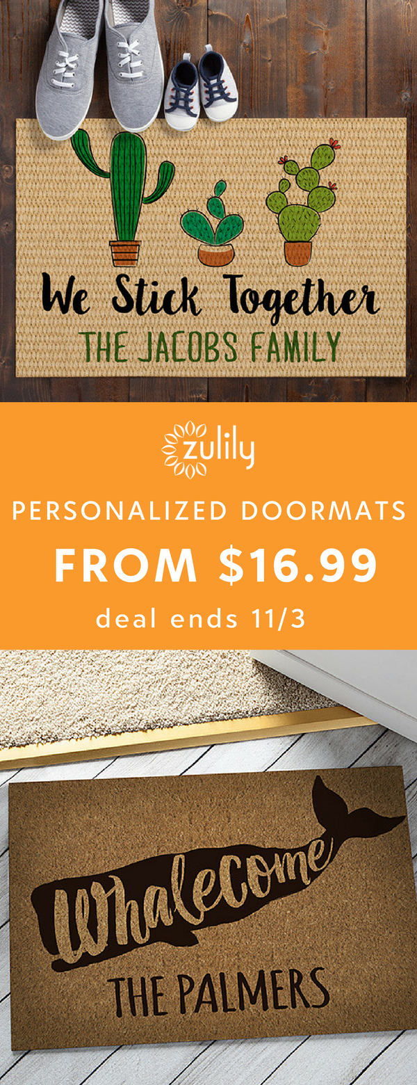 Sign up to shop personalized doormats and home decor from $16.99 ...