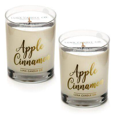 Luna Candle Co Apple Cinnamon Scented Jar Candle Wayfair In 2020 Scented Candle Jars Popular Candle Scents Candle Jars