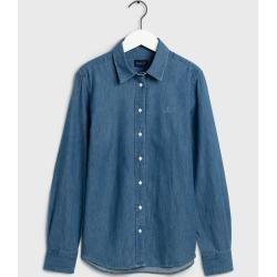 Gant Luxuriöse Chambray Bluse (Blau) Gant