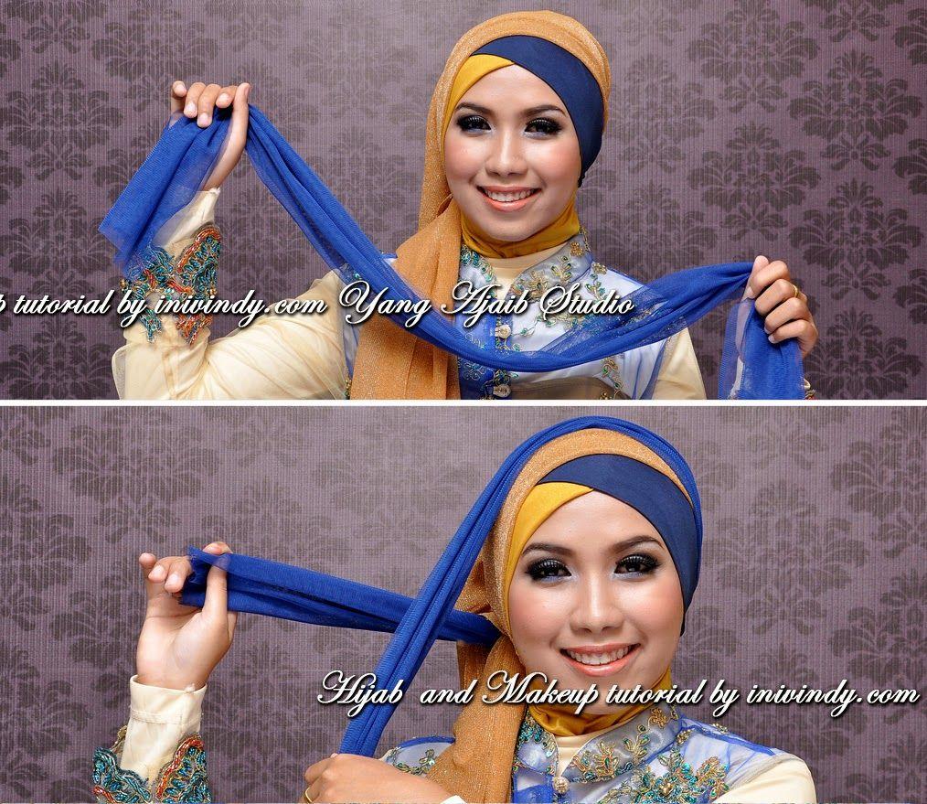 Gambar Tutorial Hijab Tunangan Tutorial Hijab