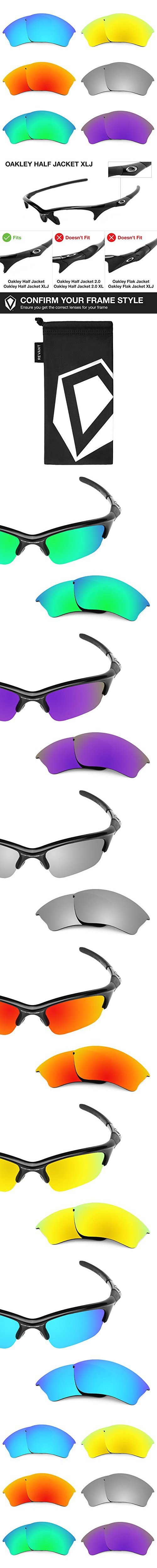 2fecf1aa16 Revant Replacement Lenses for Oakley Half Jacket XLJ 6 Pair Combo Pack K027