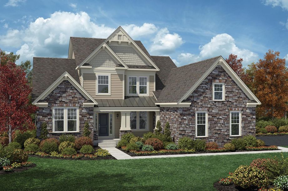 Toll Brothers Palmerton House exterior, New home