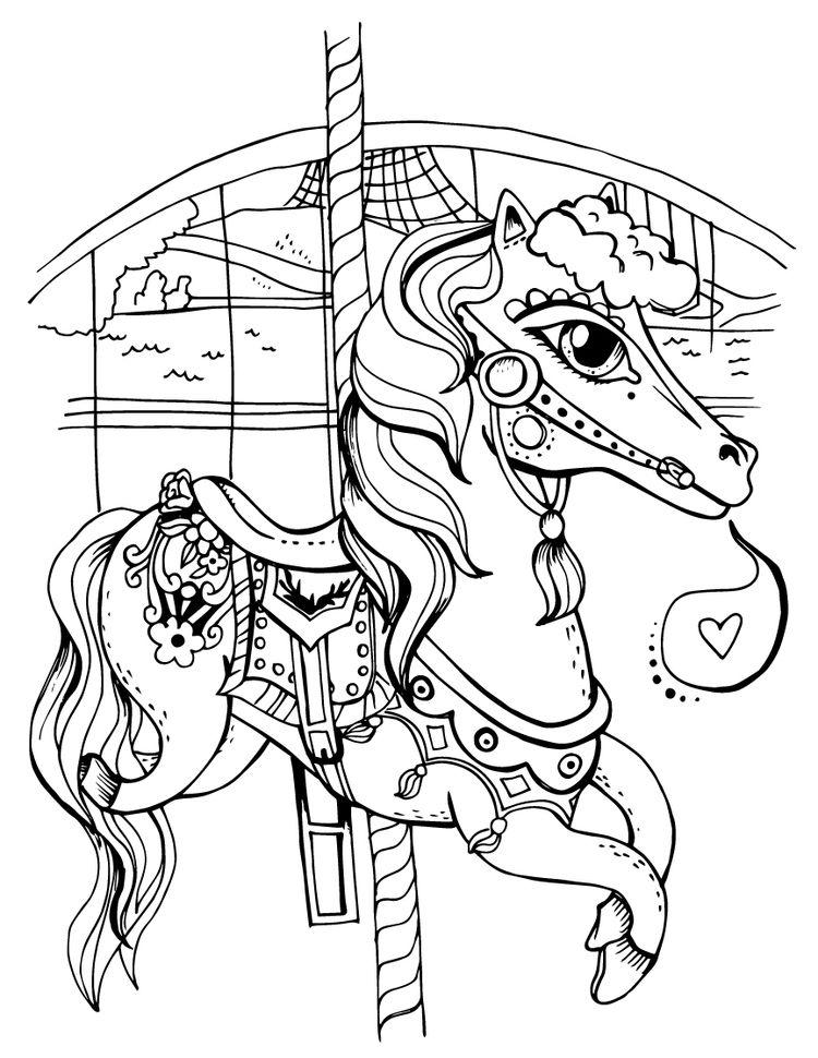 Artist · Spokane Carousel Horse Coloring Page