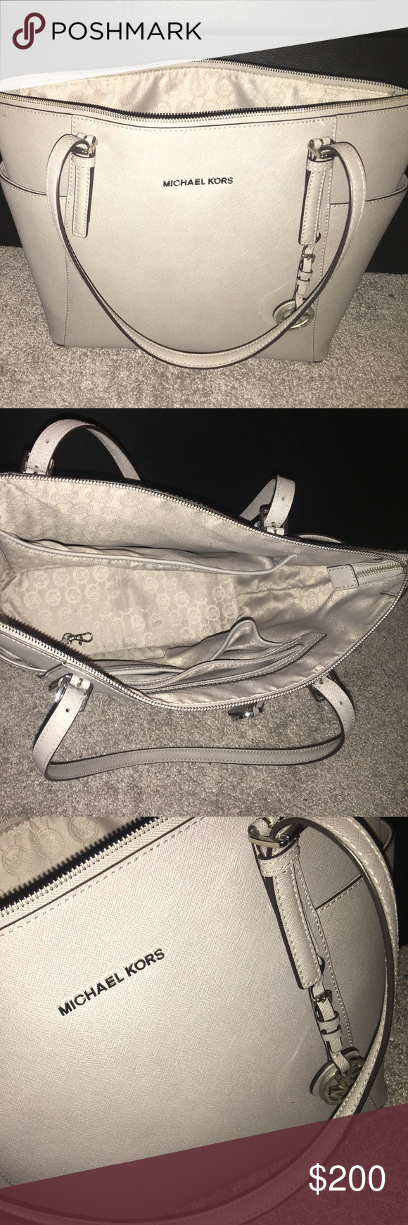 Michael kors handbag Grey jet set top zip tote Bags Totes