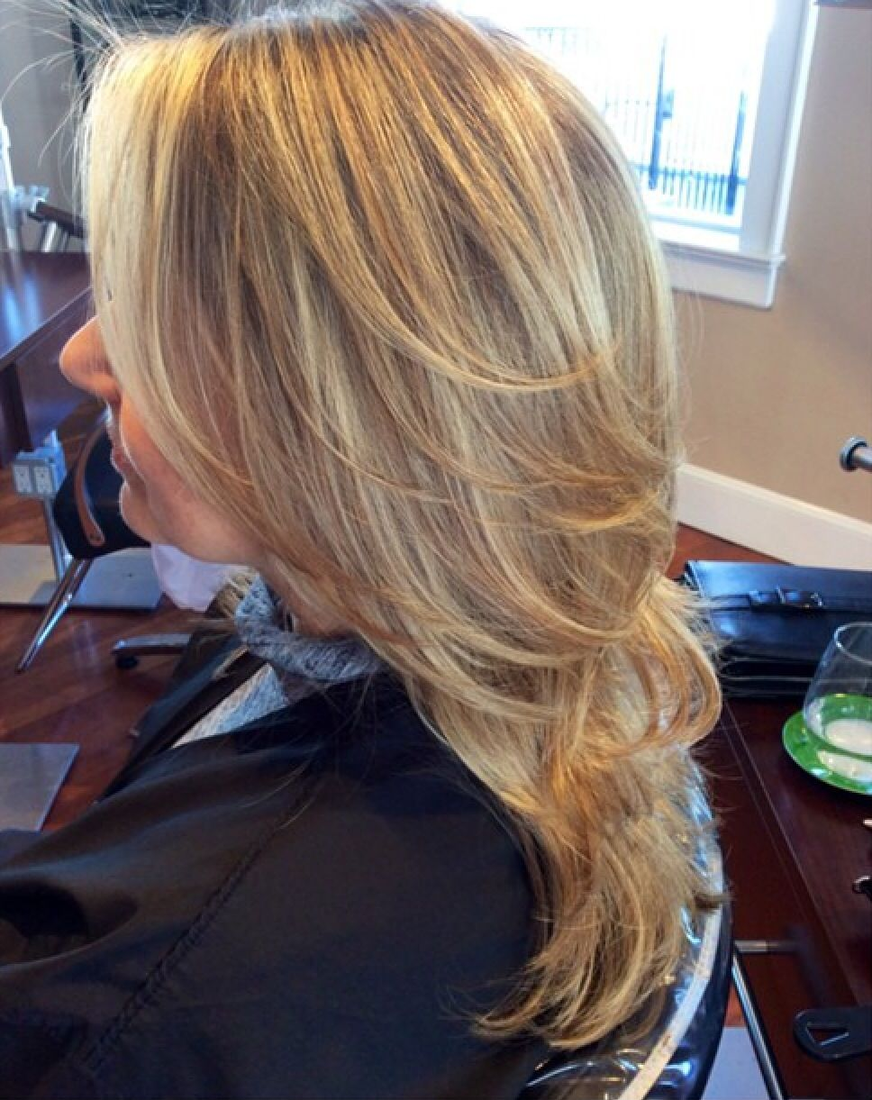 Blonde Highlights And Haircut Done By Our Talented Artists At The