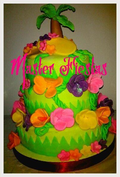 Torta hawaiana tortas pinterest tortilla tropical y - Bizcochos cumpleanos infantiles ...