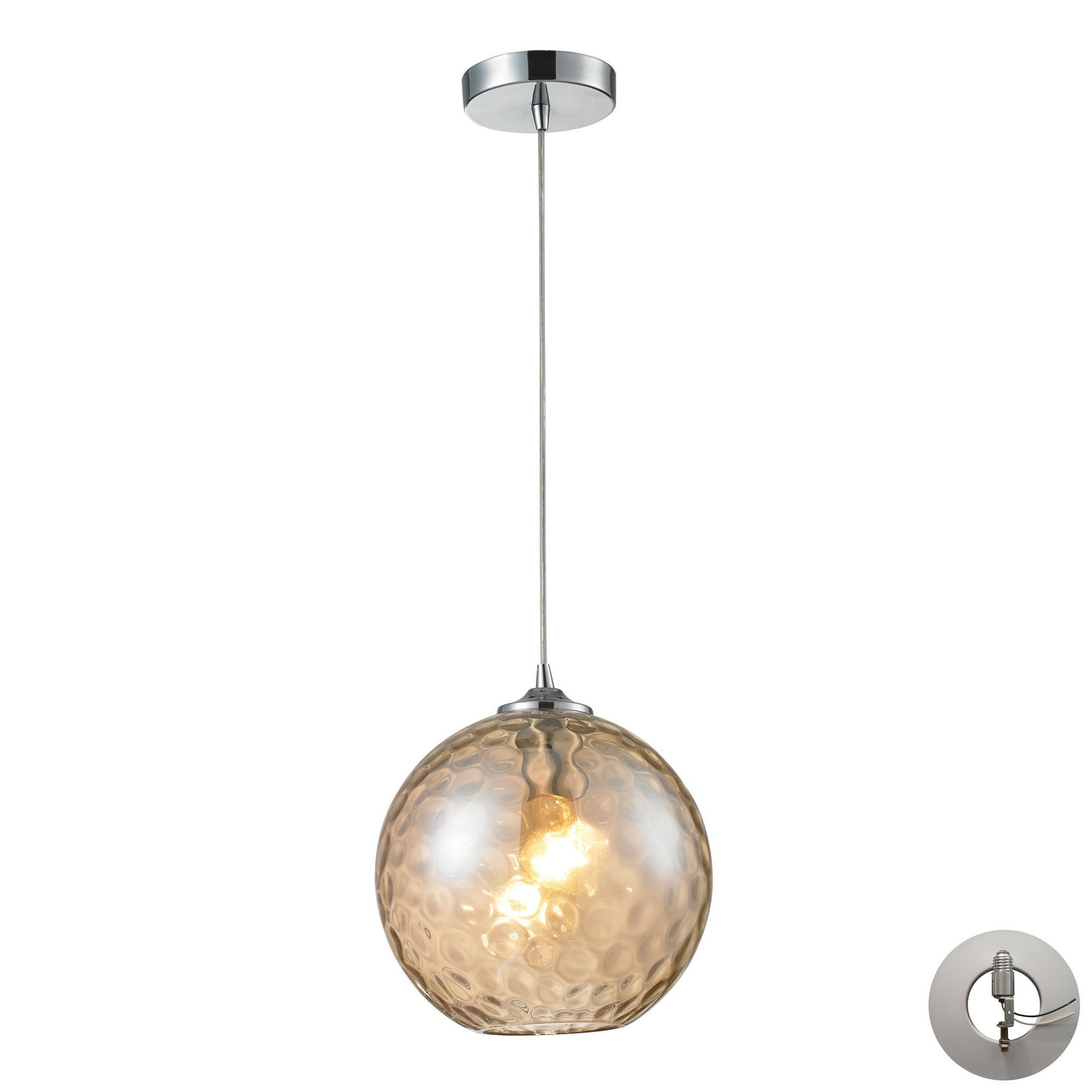 Elk lighting cmpla watersphere collection polished chrome